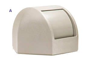 Model DC-737302 | Hexagon Waste Container Dome Top Lid (Sand Granite Beige)