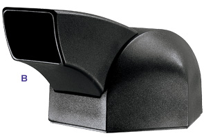 Model DC-737401 | Hexagon Waste Container Drive-Chute Lid (Black)