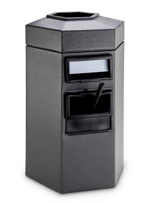 Model DC-755324 | Bermuda 1 Gas Station Receptacle with Windshield Washing Station (Charcoal)