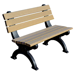 Model DF4WB-P | Recycled Plastic 4' Silhouette Bench