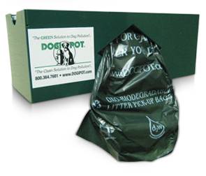 Model DP-1004-1 | DOGIPOT® Aluminum Single Roll Dog Waste Bag Dispenser (Aluminum)