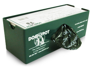 Model DP-1008-1 | DOGIPOT® Poly Plastic Single Roll Dog Waste Bag Dispenser (Poly Plastic)