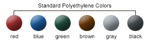 Standard Polyethylene Color Options