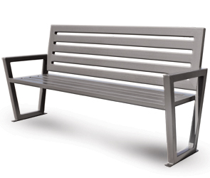 Model DXS6 | Modern Outdoor Bench | Decora Style