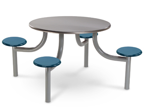 "Model EMX4204-4SPTBT | 42"" Round Cafeteria Table (Stainless Steel Top 