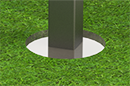 Steel Post | In-ground Mount Detail