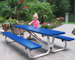 6ft Quick Fold Aluminum Kids Picnic Table