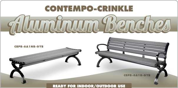 Contempo-Crinkle Aluminum Benches