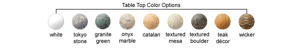 Table Top Color Options