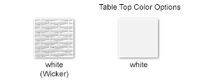 Wicker Option, Table Top Color Options
