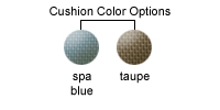 Exterior Cushion Color Options