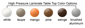 HPL Table Top Color Options
