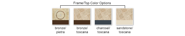 color options frame/table top
