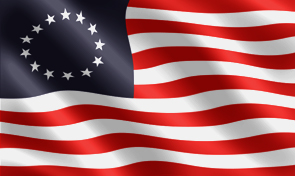Betsy Ross Historical Flag Graphic
