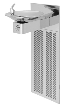 Model H1001.8HPS | Haws Wall Mounted Drinking Fountain with Grille & Back Panel
