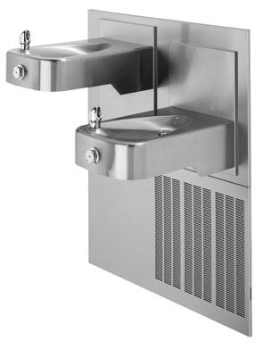 Model H1117.8 | Wall Mounted Hi-Lo Adjustable Refrigerated Water Fountain