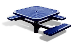 Model H463-I | Octagon Outdoor Table | Punched Steel Style (Mariner/Black)