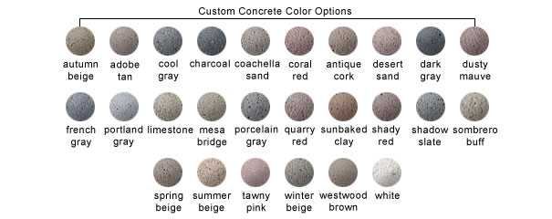 Custom Concrete Color Options