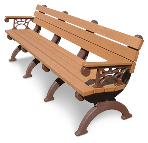 Model HB96A | Monarque Recycled Plastic Memorial Bench without Armrests
