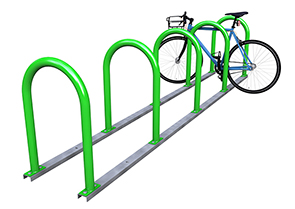 Model HRHD-B6RAIL-EPX | Heavy Duty Hoop Racks on Rail Mount