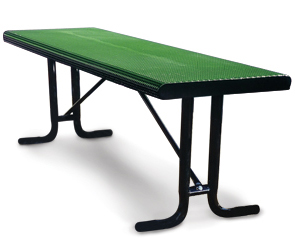 Model HRT8-P | Portable Table without Seats | Punched Rolled Style (Green/Black)