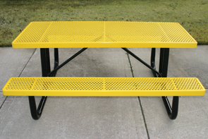 Model HU6-P | 6ft Thermoplastic Traditional Picnic Table