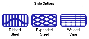 Style Options: Ribbed Steel, Expanded Steel, Welded Wire.