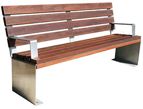 Enjoyable Inox Collection Ipe Park Benches Belson Outdoors Gmtry Best Dining Table And Chair Ideas Images Gmtryco