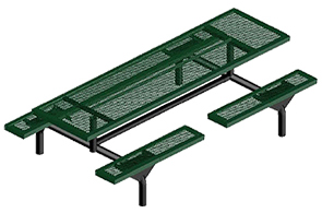 Model JHSL7-I | 7ft Rectangular Thermoplastic Table (Green)