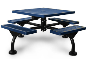 Model JR46-S | Commercial Square Outdoor Table | Span Style (Mariner/Black)