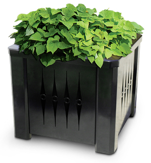 Model Kcmp Square Steel Decorative Planter With Liner