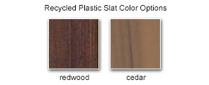 Recycled Plastic Slat Color Options