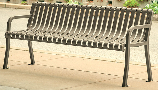 Streetside Collection Contour Bench | 6' Length