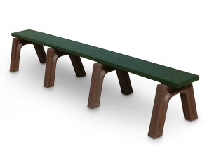 Model LB8NB-P | Recycled Plastic Backless Bench