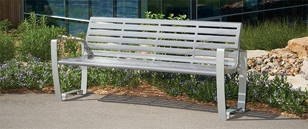 Newcastle Collection Contour Bench | 6' Length