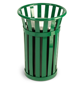 Model M2000 | Oakley Collection Slatted Ash Urn Basket (Green)