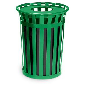 Model M3601-FT | Oakley Collection 36 Gallon Trash Receptacle (Green)