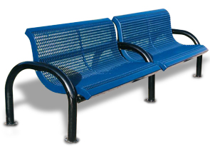 Model M4WB-P | Modern Style Benches with Add-on Sections (Mystic/Black)