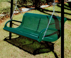 M6wb I Swing Thermoplastic Coated Park Bench Patio Green