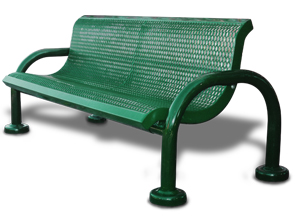 Model M6WB-P | Modern Style Benches with Add-on Sections (Green/Black)