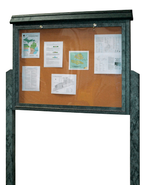 Model MCP-L-DSDP | Large Double Sided Outdoor Information Board on Two Posts