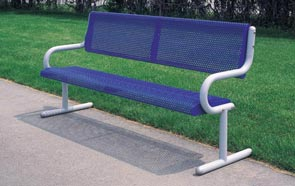 Model MF2011 | Park Bench (White/Blue)
