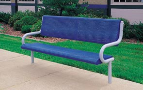 Model MF2012 | Park Bench (White/Blue)