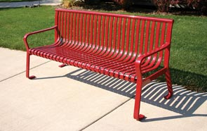 Model MF2200 | Metal-Armor Coated Steel Bench (Red)