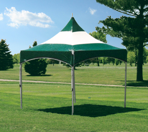 Model MT1010 | Portable Event Tent (Forest Green/White)