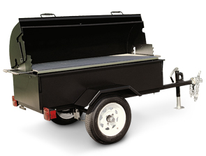 Model MOBILE-I | Charcoal Fired Mobile Mounted Trailer Unit