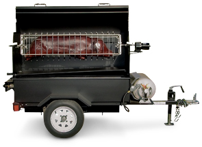 Model MOBILE-II-R | Propane Fired Mobile Mounted Pig Roaster Trailer Unit