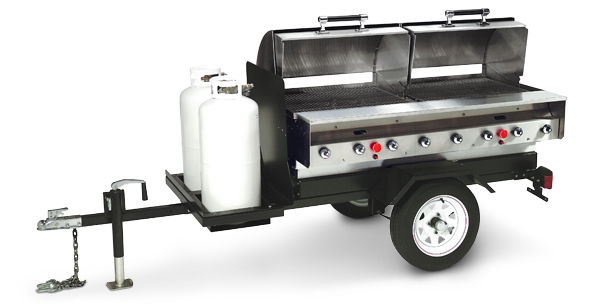 Model MOBILE-SLPX | Trailer Mounted Stainless Steel PORTA-GRILL®