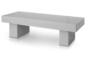 Model NB60 | Concrete Garden Bench (Smooth Dove Gray)