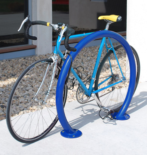 Model ORN-2-SF-P | Orion Bike Rack with Round Tubing (Patriot Blue)